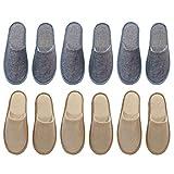 LUOEM 6 Pares de Zapatillas de SPA Zapatillas Desechables Sandalias de Invitados para El Hogar del Hotel para El Salón de Belleza del Hotel