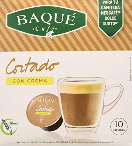 Cafés Baqué 10 Capsulas Compatibles Dolce Gusto Café Cortado Con Crema 157 g