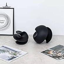 Zwart-witte hars abstracte twistdecoratie ronde ornamenten