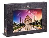 Ulmer Puzzleschmiede - Puzzle El Taj Mahal - Puzzle de 1000 Piezas - el Famoso Taj Mahal Frente a un fantástico Cielo