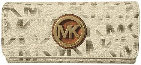 Michael Kors Signature PVC Fulton Flap Wallet