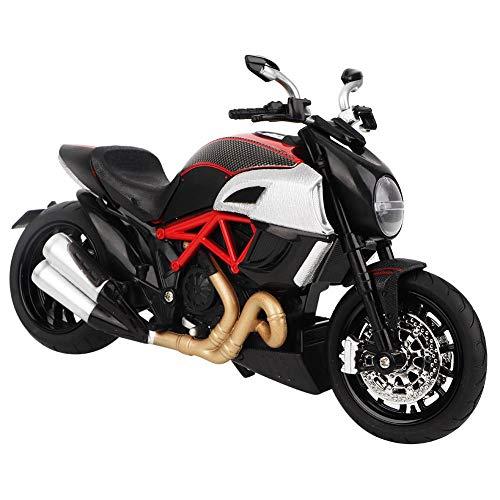 Zerodis Motorrad Modell Spielzeug 1: 12 Maßstab hohe Simulation Druckguss Motorrad Spielzeug mit leichtem Klang Idel Geschenk für Kinder Jungen Mädchen