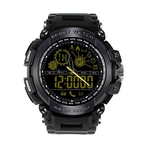 Bluetooth SmartWatch IP68 Impermeable Reloj Fitness Actividad rastreador podómetro, Reloj Inteligente con cámara notificaciones de aplicación 804003