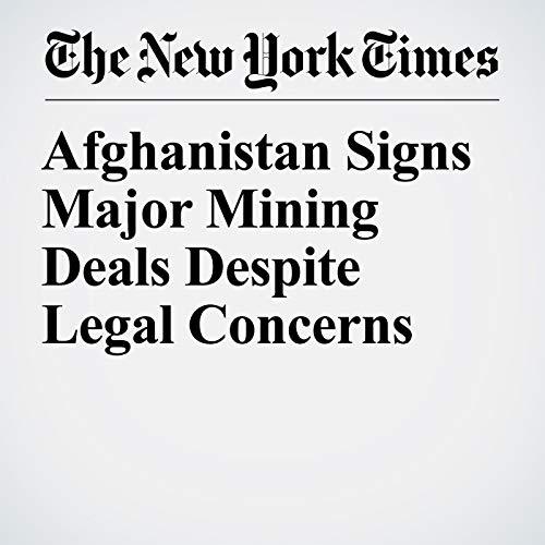 Afghanistan Signs Major Mining Deals Despite Legal Concerns copertina
