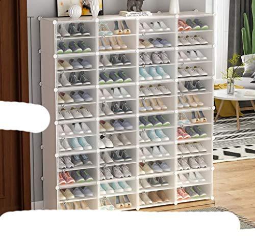Zapatero portátil r Tower, gabinete modular para ahorrar espacio, zapatero ideal para zapatos, botas, zapatillas de alta capacidad - blanco 4x12-Tier,Estados Unidos
