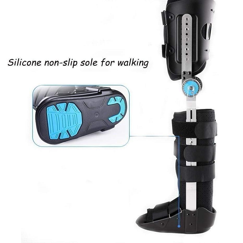 ライムみがきます従事した調節可能な膝装具サポート-ポストヒンジ付き-ユニバーサルレッグサイズ (Color : As Picture, Size : Right-M)