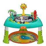 Infantino- Aire et Table d'activités 3 en 1 Assise rotative 360 degrés, Multicolore