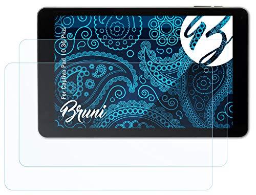 Bruni Schutzfolie kompatibel mit Captiva Pad 10 3G Plus Folie, glasklare Bildschirmschutzfolie (2X)