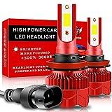 Teguangmei H11/H8 Lampadine per Fari a LED Canbus Senza Errori 25W 5000LM Chip COB Super Luminosi 6000K Kit di Conversione Bianco Fari Anabbaglianti LED per Auto Lampadine Fendinebbia 12V,2 pezzi