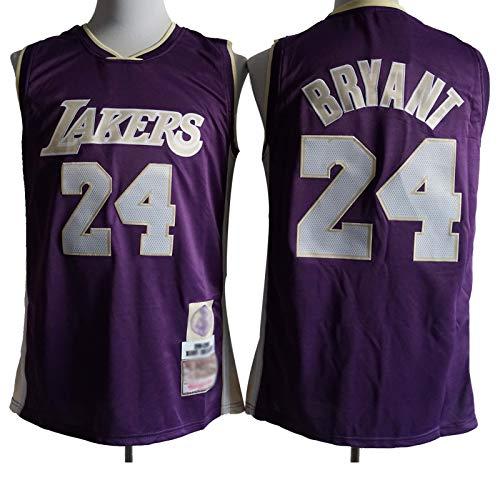 WXZB Basketball Jersey Laker # 24 Bryant, fanáticos de Baloncesto Camisetas y Tops, diseño de Malla, Puede evaporar rápidamente Sudor, Adecuado como Regalo Purple-XL