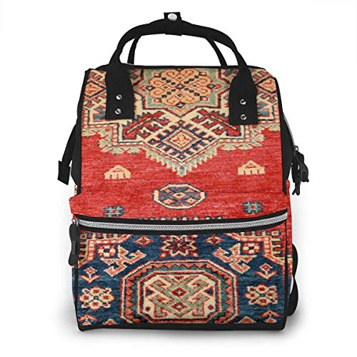 UUwant Sac à Dos à Couches pour Maman Large Capacity Diaper Backpack Travel Manager Baby Care Replacement Bag Nappy Bags Mummy Backpack,(Natural Dyed Handmade Anatolian Carpet