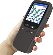 Qualit/é de lair int/érieur Moniteur 9 1 IQA Air Tester PM1.0 PM2.5 P10 HCHO TVOC Temp/érature Humidit/é Moniteur D/étecteur de gaz Analyseur outil de mesure