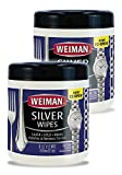 Weiman Jewelry Polish Cleaner and Tarnish Remover Wipes - 20 Count - 2 Pack - Use on Silver Jewelry...