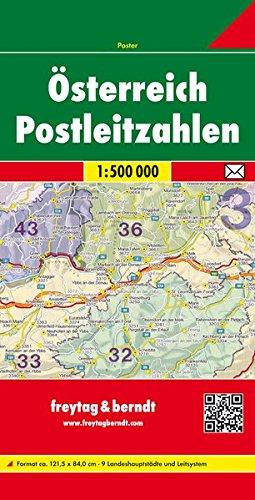 Österreich Postleitzahlen, 1:500.000: Postleitzahlenkarte (freytag & berndt Poster + Markiertafeln)