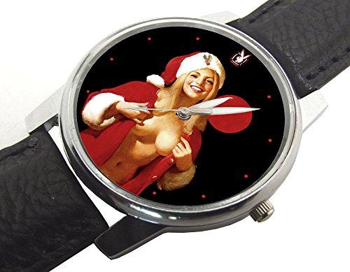 """Orologio da polso da polso con scritta in inglese """"Sessy Babbo Natale"""" in stile vintage, da collezione, regalo di Natale"""