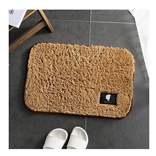 Tapijt Fluffy Maten Bathroom Area Bedside Vloer Vloerbedekking Fotografie Deken Deurmat Buiten Extra Duurzaam (Color : Beige, Size : 50 * 80cm)
