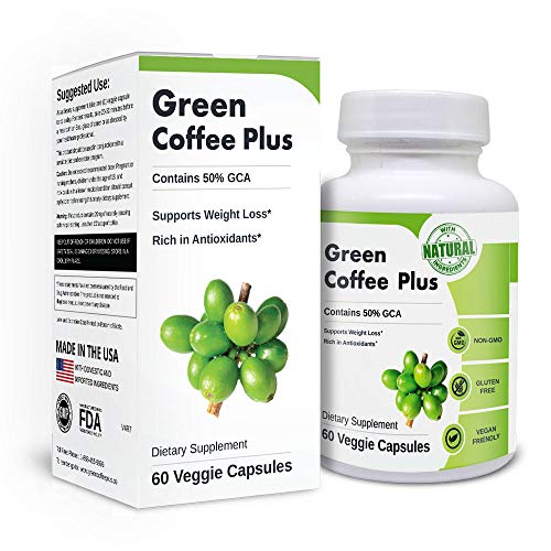 Green Coffee Plus | Premium Green Coffee Bean Extract. Supports Weight Loss, Rich in Antioxidants. Non-GMO, Vegan, Gluten Free. 60 Capsules