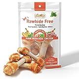 LuvChew Premium Dog Bones, Made with Real Chicken & Wholesome Vegetables, Rawhide Alternative, Medium...