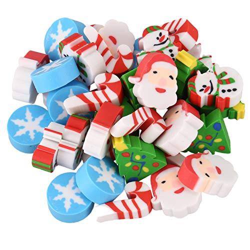 NEYOANN - 35 gomme da cancellare per Natale, Babbo Natale, albero di Natale, fiocco di neve, calendario dell'avvento