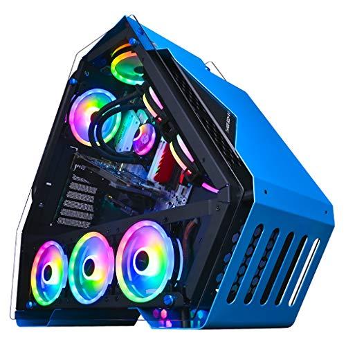 Caso de los juegos de PC ordenador para PC de escr Funda de computadora de escritorio, 4 tragamonedas, 4 ventiladores, 240 cajas de juegos enfriadas por agua, panel frontal de vidrio lateral transpare