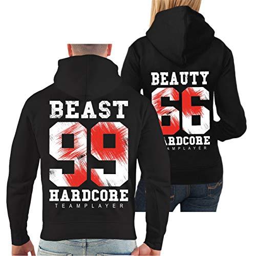 Spaß kostet Partner Kapuzenpullover Beauty & Beast Größe XS - 4XL