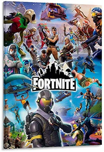 Frameless decorative painting Fort_nite Poster Battle Royale Video Game Poster Decorative Canvas Wall Art Living Room Posters Bedroom 16x24inch(40x60cm)