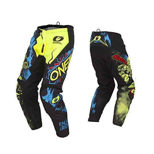 O'NEAL | Motocross-Hose | MX Enduro | außergewöhnliche Bewegungsfreiheit, Vollständig gefüttert, Polster aus Gummi für zusätzlichen Schutz | Pants Element Villain | Erwachsene | Neon-Gelb | Größe 30