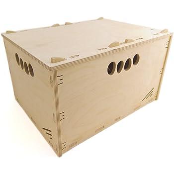 MK Design hochbelast Bar Caja de Herramientas de Madera Caja de Madera Natural 60 x 40 x 17 cm 31 L, con Tapa Apilable Caja: Amazon.es: Hogar