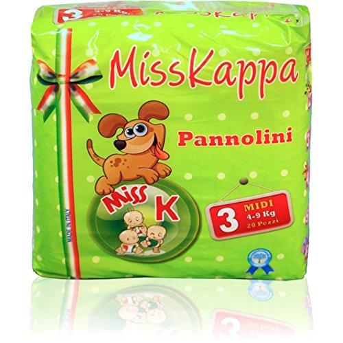 Pannolini Misskappa Formato sacca taglia 3 confezione da 20 pezzi