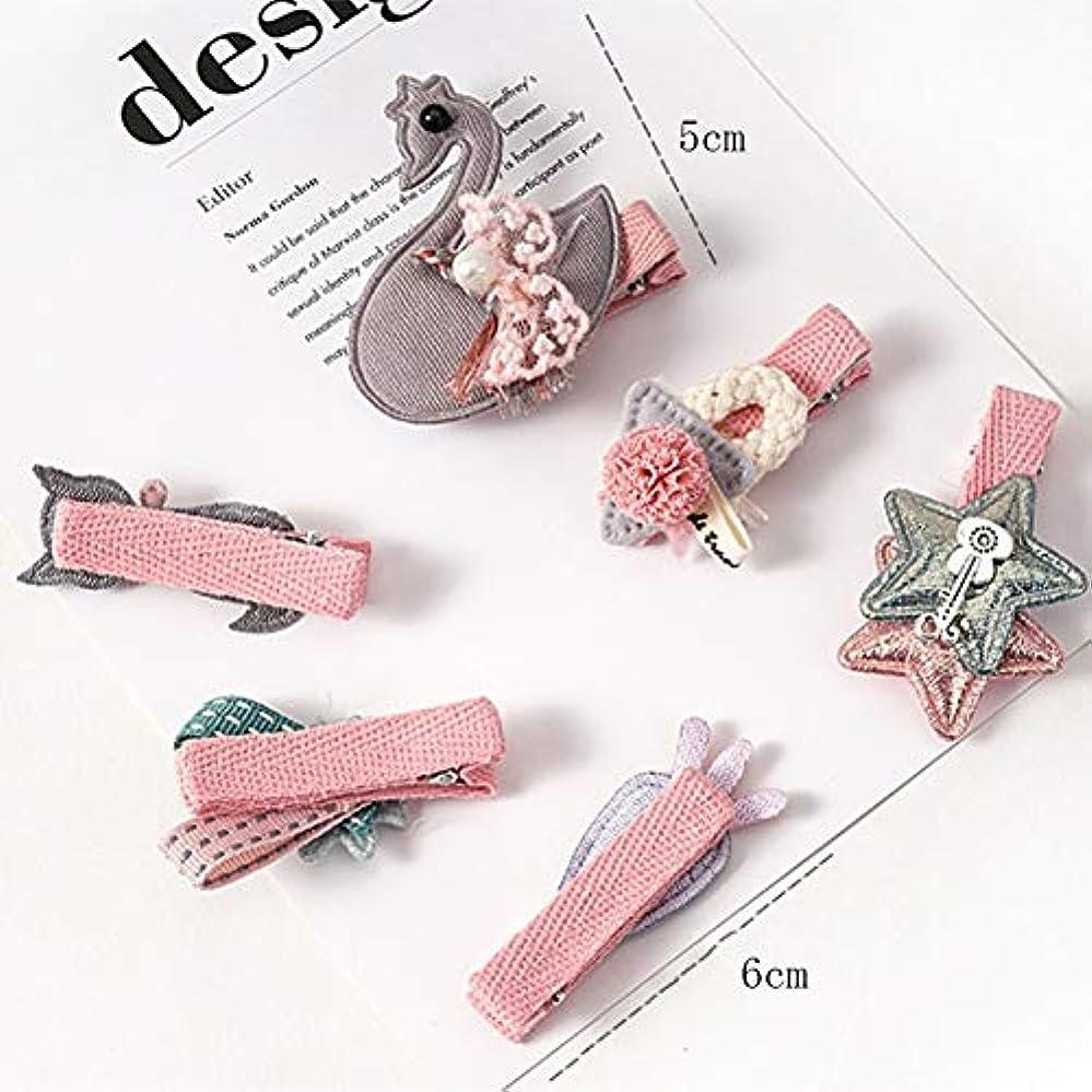 光の膨らませるジョガー子供用ヘアアクセサリーBaby Tiara Girls Hairpin Baby Princess Hairpin Pink Clip / 12 LMMSP (Color : D)