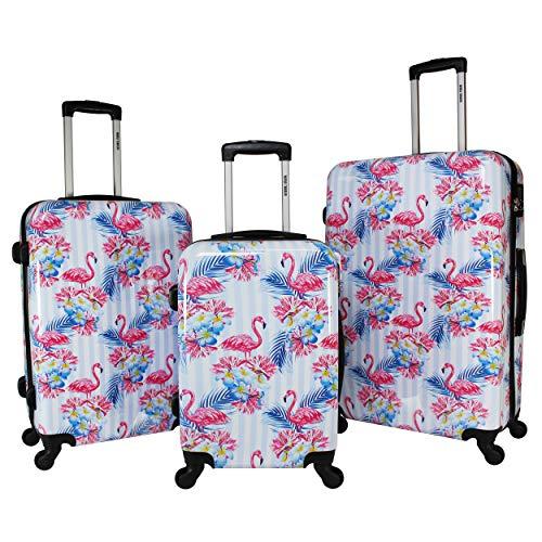 World Traveler Flamingo 3-piece Hardside Spinner Combination Lock Luggage Set, One Size