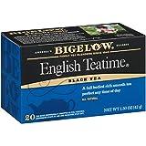 Bigelow English Teatime Black Tea Bags, 20 Count Box (Pack of 6) Caffeinated Black Tea, 120 Tea Bags Total