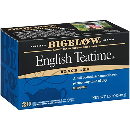 Bigelow English Teatime Black Tea Bags, 20 Count Box (Pack of 6) Caffeinated Black Tea, 120 Tea Bags Total
