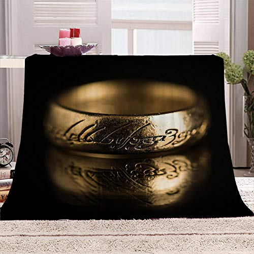 LHUTY Fleece Blanket Double Size Gold bracelet 71x78.7 inch Cozy Soft Throw Blanket for Couch Sofa Bed, Warm Fluffy Blanket, Plush Flannel Nap Blanket