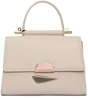 Ladies Bag Spring Summer New Simple Leather Small Square Bag Women's Shoulder Crossbody Handbag(FM),C