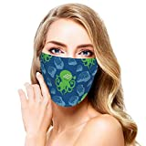 Washable Face Mask Octopus Without Thief Reusable and Adjustable Protective Face Cover Multi-Functional Outdoor Sports Bandana Black