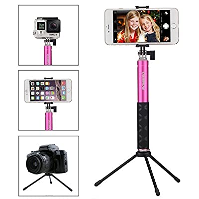 Selfie Stick, Foneso Extendable Monopod with Bluetooth Remote and Tripod Stand for iPhone 7 6S Plus 6S 6 Plus 6 5S Android Samsung Galaxy S6 S5 Support Photo & Video