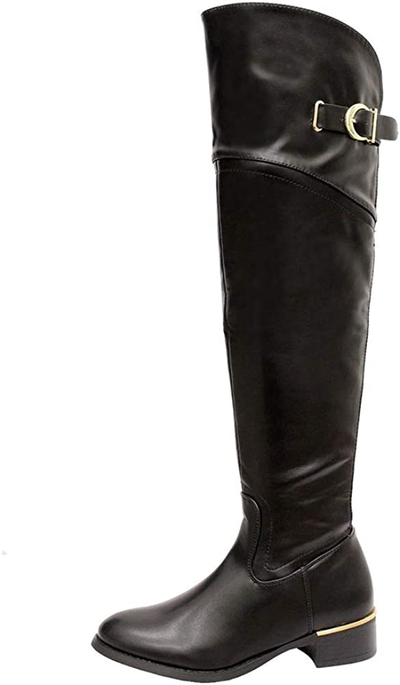 Ladies Womens Over The Knee Boot Wide