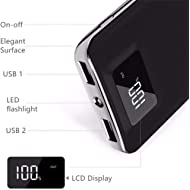 20,000mAh HIgh Speed Digital Power Bank Fast Charger Portable Ultra High Capacity 3.4A 2-Port USB...