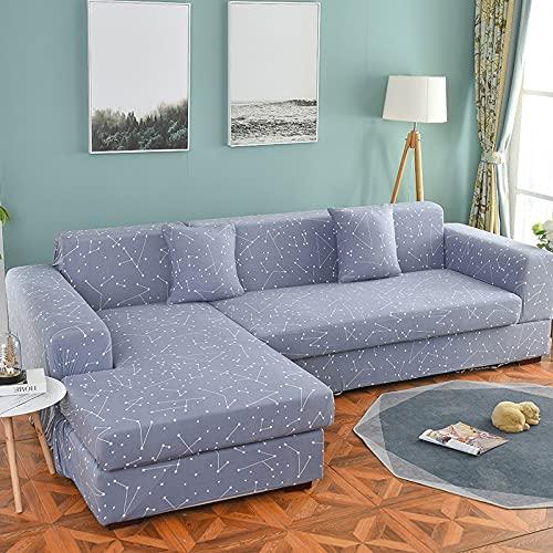 Funda de sofá elástica seccional elástica para sofá de Sala de Estar Funda de sofá en Forma de L Funda de sillón A16 4 plazas