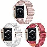 Fengyiyuda 3 Pack Correas Compatible con Apple Watch Correa, Correa Loop Deportiva con Nylon Compatible con iWatch Series 6, 5 4 3 2 1, SE
