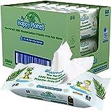 My Happy Planet Lingettes humides pour bébé 100% biodégradables et sans plastique - Eau purifiée à 99,9% - Sans parfum, sans alcool - Écologique - Vegan (12 paquets, 720 lingettes))