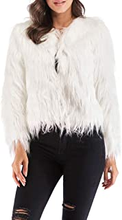 b9d12d685040 Amazon.com  Whites - Fur   Faux Fur   Coats