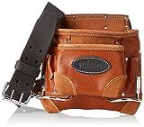 Rolson 68877 Werkzeugtasche mit Gürtel, Braun / Schwarz