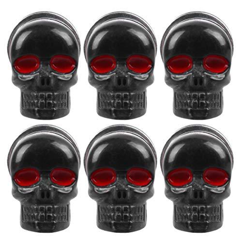 BESPORTBLE 6Pcs Tornillos del Cráneo Tornillos del Marco de La Matrícula del Cráneo Tornillos de Sujeción de Licencia de Moto Punk Decoración para Moto