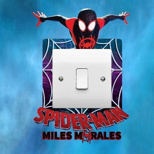 ELITEPRINT Spiderman Miles Morales - Pegatina para interruptor de luz, diseño de piel