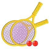 Lixada 2 Raquetas de Tenis + 2 Pelotas de Tenis (Colores Aleatorios), Deportes de Playa/Familia/Jardín/Escuela/Entrenamiento/Al Aire Libre
