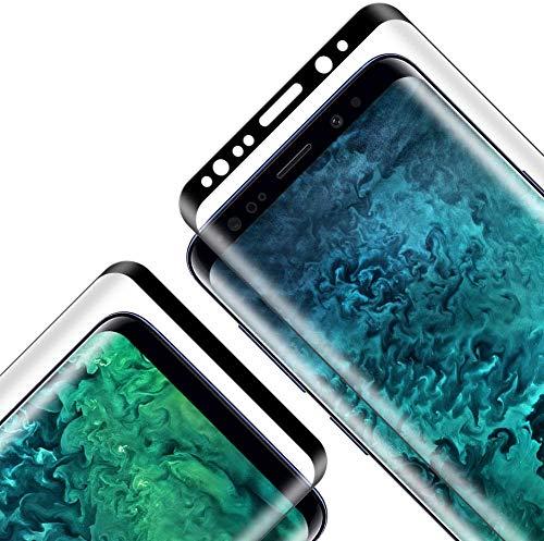 Cristal Templado para Galaxy S8 Plus, [2 Unidades] [Cobertura Completa] [2.5d Borde] [9H Dureza] [Sin Burbujas] Vidrio Templado Premium Protector de Pantalla para Galaxy S8 Plus