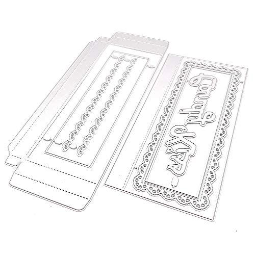 Chocalate Bar Candy Box Metal Cutting Dies Stencils for DIY Scrapbooking Decorative Embossing DIY Paper Card