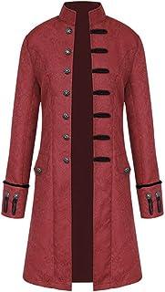 زي Steampunk للهالوين ، سترة كلاسيكية من الملابس القوطية في العصور الوسطى ، معطف بياقة ريترو فيكتوري
